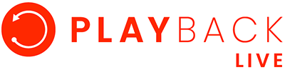 Playback Live large banner logo. Partners page footer